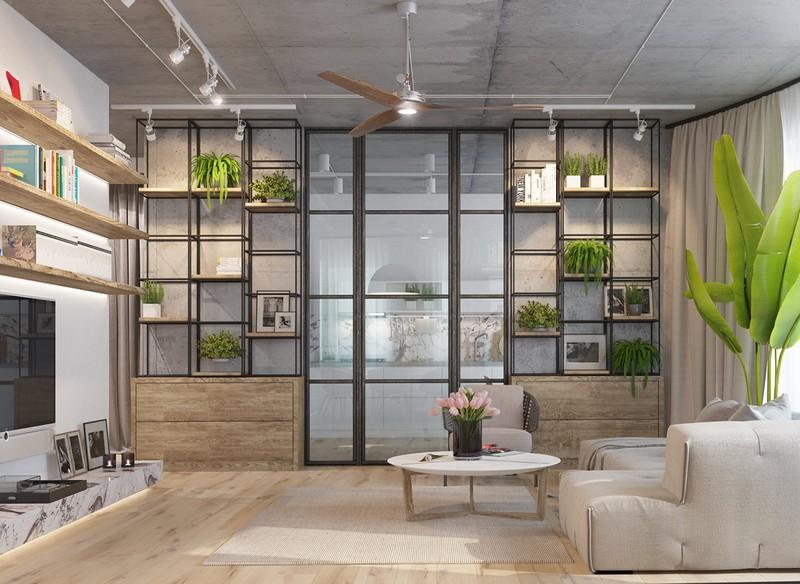 Nội thất căn hộ truyền cảm hứng với trần bê tông và sàn gỗ - Ảnh 2