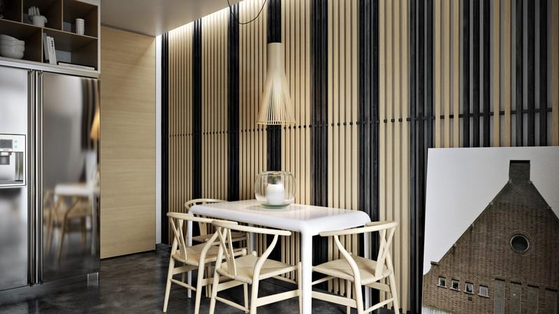 Nội thất căn hộ truyền cảm hứng với trần bê tông và sàn gỗ - Ảnh 8