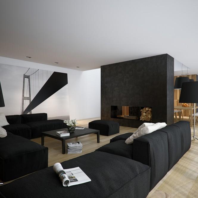 Căn hộ nội thất màu đen vô cùng huyền bí và sang trọng - Ảnh 3