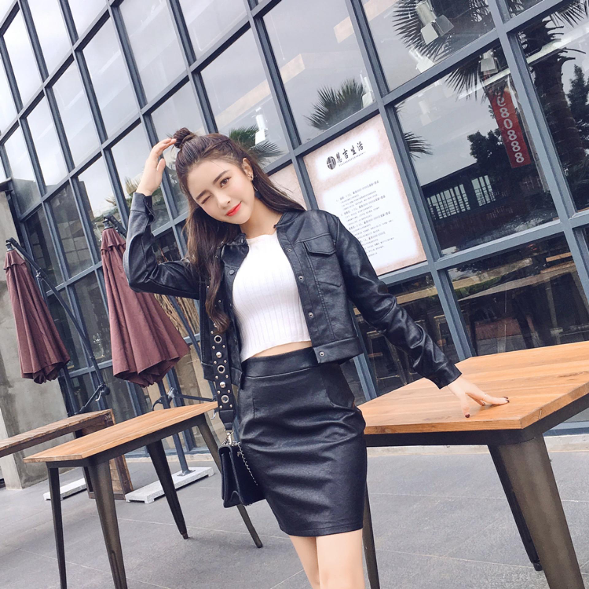 Phối đồ với chân váy da: Gợi ý thời trang Thu - Đông cho các cô nàng sành điệu - Ảnh 18