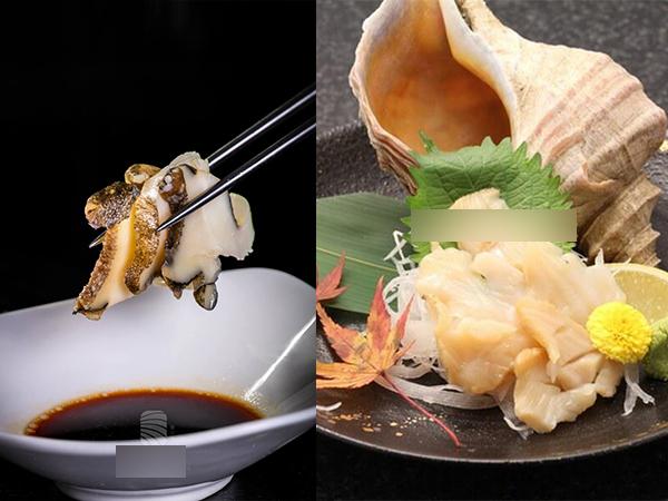 Đã mắt xem đầu bếp chế biến sashimi ốc siêu to khổng lồ