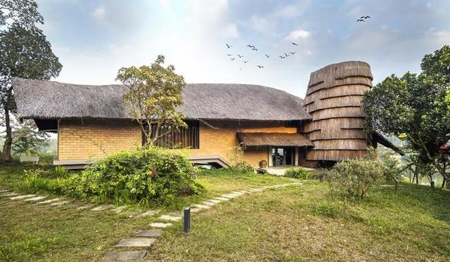 Ngôi nhà mái rạ của đại gia Hà Nội gây 'sốt' trên báo Mỹ vì thiết kế độc lạ - Ảnh 2
