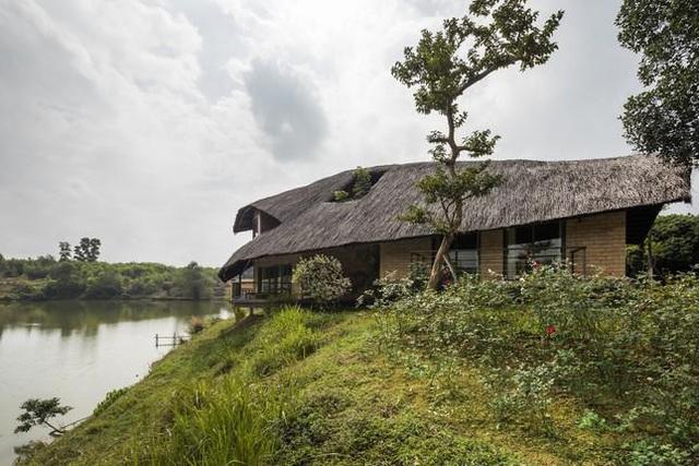 Ngôi nhà mái rạ của đại gia Hà Nội gây 'sốt' trên báo Mỹ vì thiết kế độc lạ - Ảnh 3