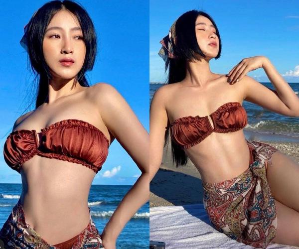 Sở hữu nhan sắc như búp bê Nhật, 9X diện bikini nhỏ xíu khoe eo thon nhìn phát mê - Ảnh 1