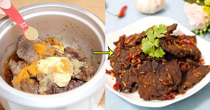 Nếu không dùng lò nướng, bạn vẫn có thể làm thịt bò khô bằng nồi cơm điện- Ảnh minh họa: Internet