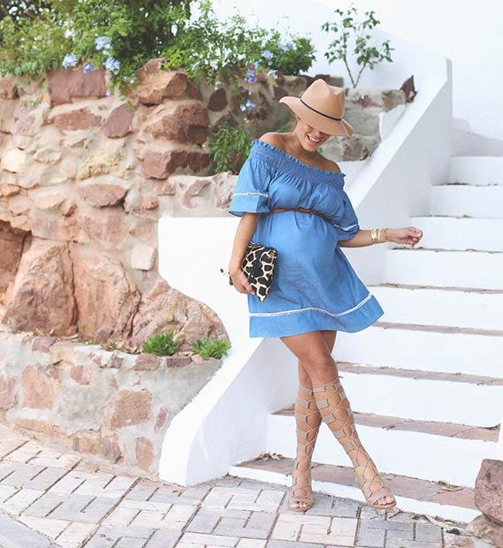 Giới thiệu cách mặc váy điệu ngày hè đẹp cho mẹ bầu