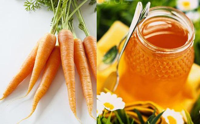 Giảm mụn hiệu quả với cà rốt và mật ong