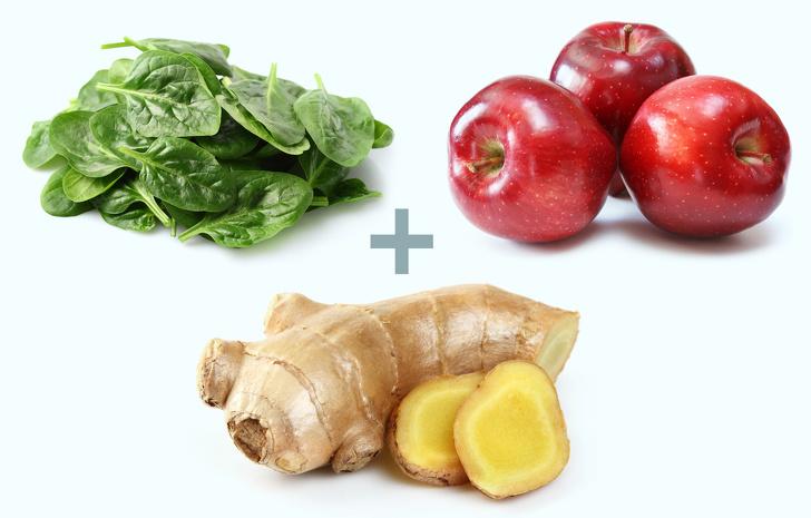 Cải bó xôi, táo và gừng là những thực phẩm tăng tốc độ giảm cân khi kết hợp cùng nhau
