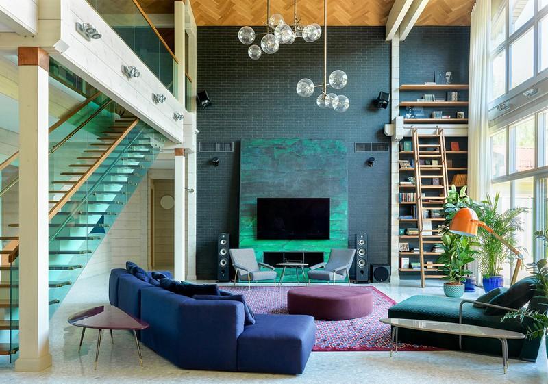 Ngôi nhà sở hữu nhiều màu sắc như một bức tranh - Ảnh 1