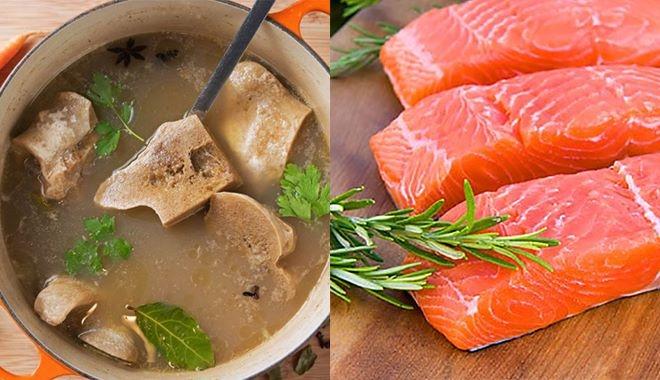 Nên bổ sung những thực phẩm giàu collagen, hững loại thực phẩm giàu protein và các loại thực phẩm giàu vitamin C