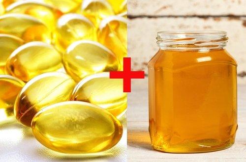 Dùng mật ong kết hợp với vitamin E