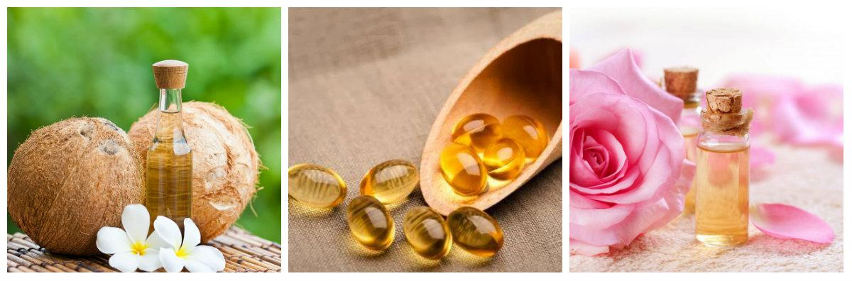 Kết hợp vitamin E với dầu dừa và nước hoa hồng