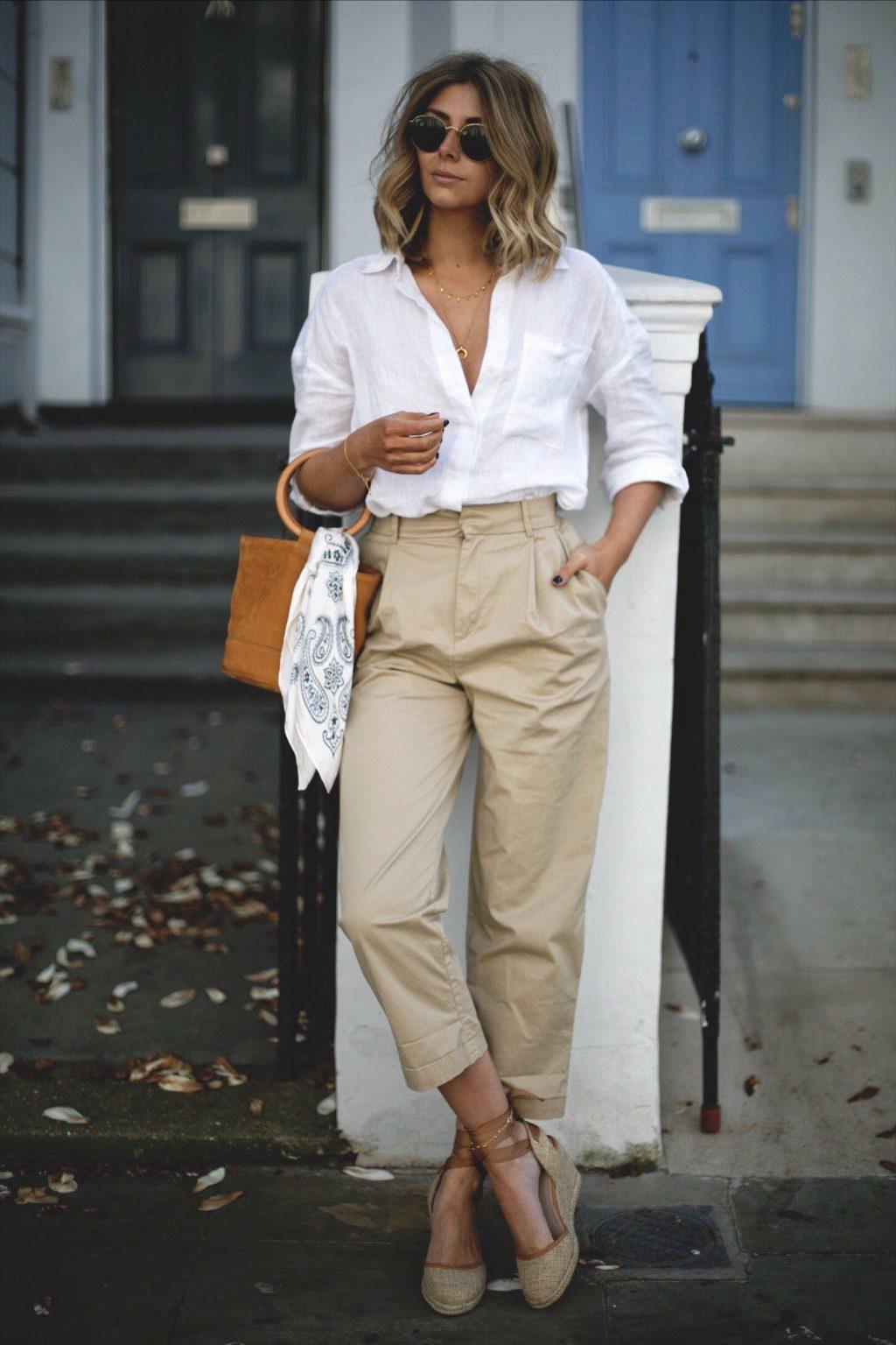 Áo sơ mi vải linen là lựa chọn hàng đầu cho các cô nàng công sở trong thời tiết mùa hè nắng nóng