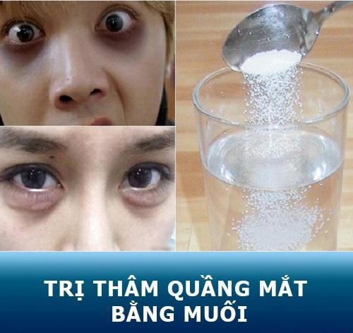 Dùng muối là một trong những  cách trị quầng thâm mắt trong 1 tuần  đem lại hiệu quả rất cao