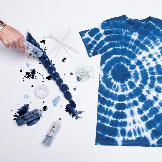 Sắc nhuộm tie-dye là hình ảnh ảo giác hay các nhỏ giọt tự do