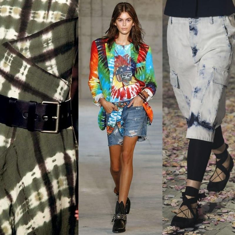 Phong cách Tie Dye là sự hòa trộn các màu sắc lại với nhau một cách thú vị và hòa hợp
