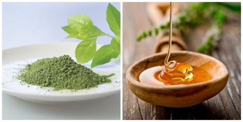 Làm hồng vùng kín bằng mật ong - bột trà xanh