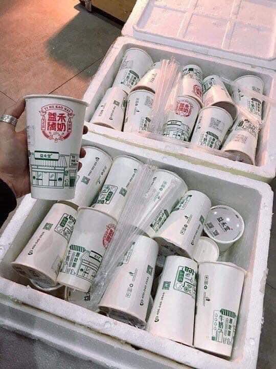 Sản phẩm trà sữa nướng được bảo quản lạnh rồi ship từ Trung Quốc về Việt Nam