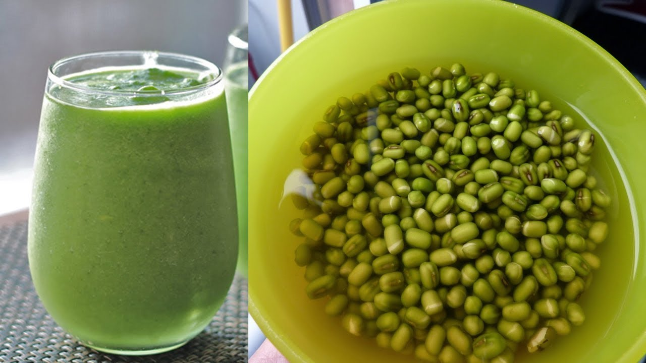 Cho đậu xanh vào ngâm trong khoảng 1 tiếng để hạt đậu được nở hơn