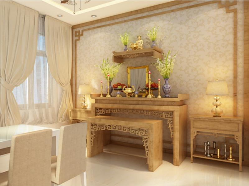 Lựa chọn ví trí đặt bàn thờ ở những nơi vững chắc trong nhà