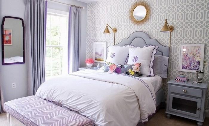 Phòng ngủ tông màu pastel nhã nhặn