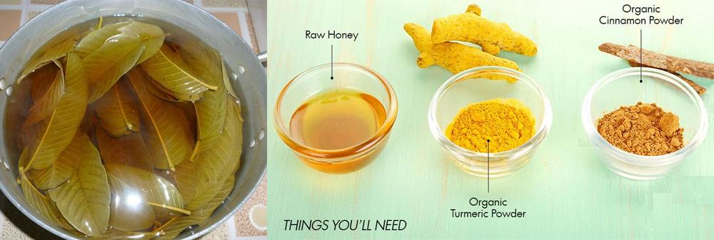 Chuẩn bị trà lá ổi để uống và súc miệng, trị hôi miệng vĩnh viễn tại nhà dễ thực hiện