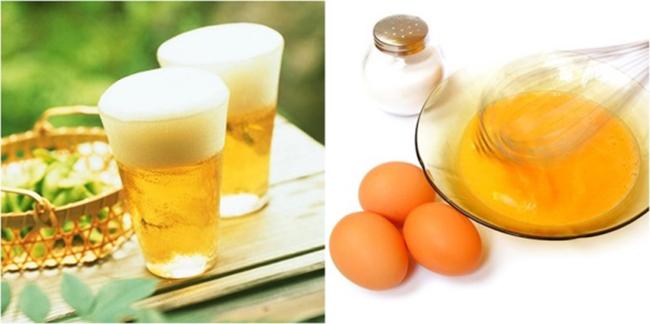 Dùng bia và trứng gà để chăm sóc da trở nên trắng hồng hơn