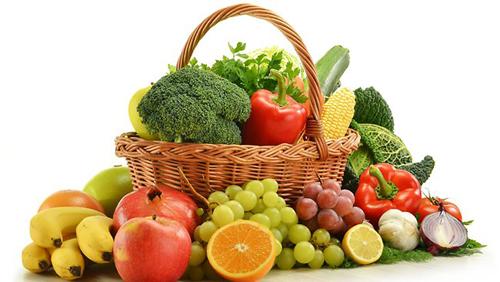 Rau củ trái cây tươi là thực phẩm tốt cho người bị gan nhiễm mỡ