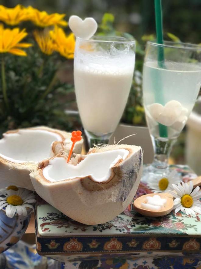 Cách làm sinh tố dừa sáp giải nhiệt ngày hè