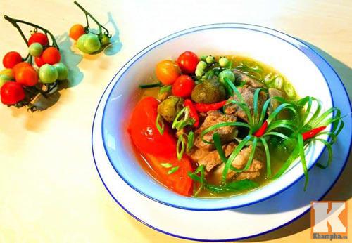 Canh sườn nấu sấu chua chua dễ ăn - Ảnh 3