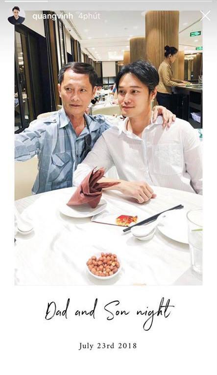 Quang Vinh lần đầu khoe ảnh chụp cùng bố sau khi phủ nhận là thiếu gia - Ảnh 1