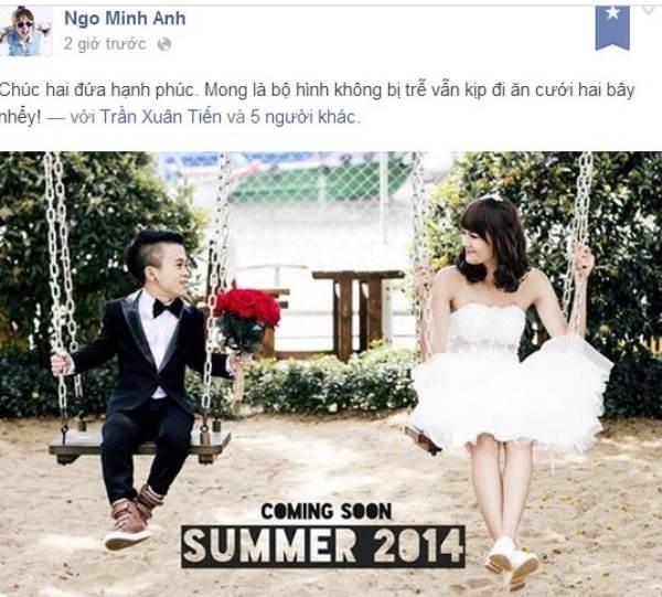 Ảnh cưới lãng mạn của chú lùn Xuân Tiến và bạn gái người mẫu 1.75m trước khi chia tay - Ảnh 2