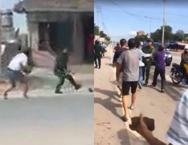 Quảng Ninh: Say rượu, hai thanh niên cầm gạch tấn công cảnh sát - Ảnh 1