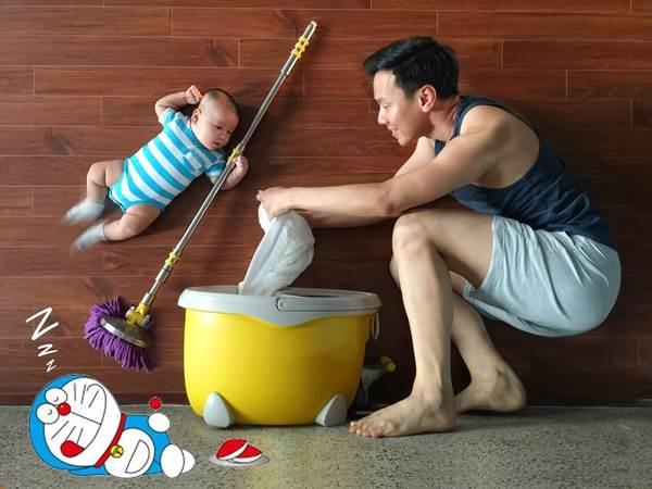 Học lỏm ông bố trẻ cách chụp ảnh cho con đẹp 'không đụng hàng' - Ảnh 6