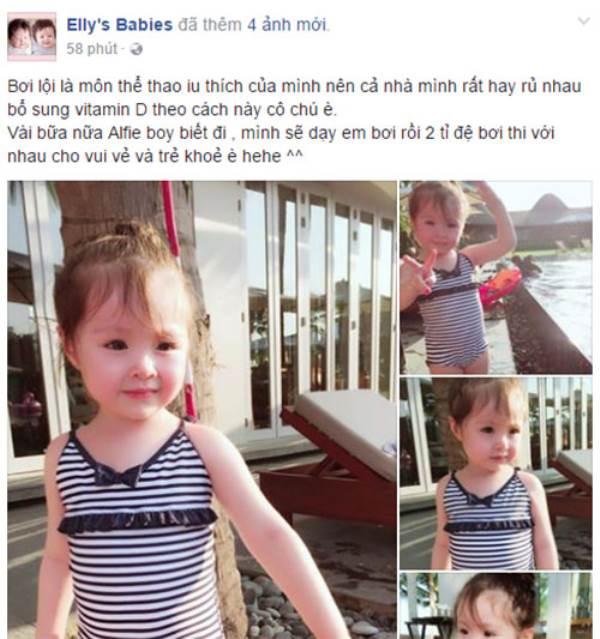 Lâu lắm Elly Trần mới khoe ảnh Cadie, nhiều người ngỡ ngàng vì cô bé đã quá lớn - Ảnh 1