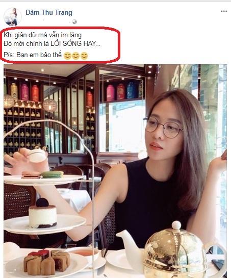 Bị chê không xứng với Cường Đô la, Đàm Thu Trang lên tiếng