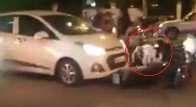 Phẫn nộ: Cô gái trẻ bị người đàn ông đạp vào mặt, hành hung dã man vì va chạm giao thông  - Ảnh 1