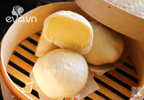 Bánh bao nhân đậu xanh nóng hổi cho bữa sáng - Ảnh 4