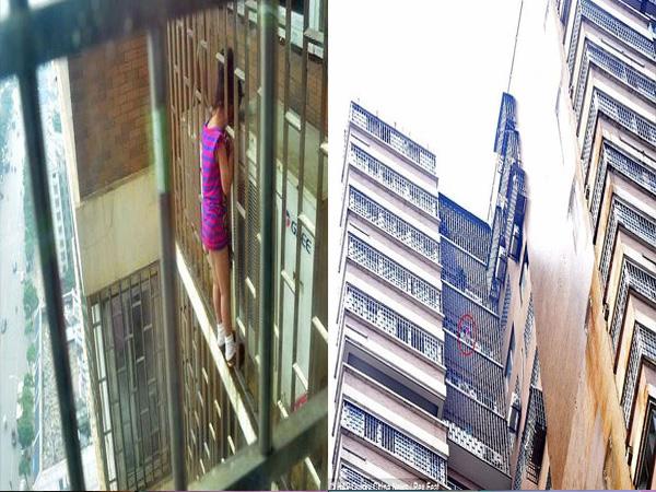 Giải cứu bé gái 5 tuổi mắc kẹt đầu ở lan can tầng 24 - Ảnh 1