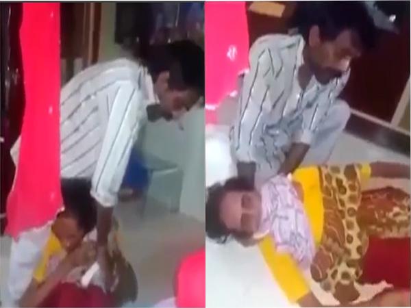 Kinh hoàng clip người đàn ông cố giết mẹ trước mặt con gái - Ảnh 1
