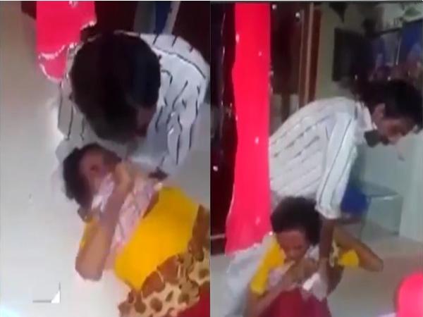 Kinh hoàng clip người đàn ông cố giết mẹ trước mặt con gái - Ảnh 2