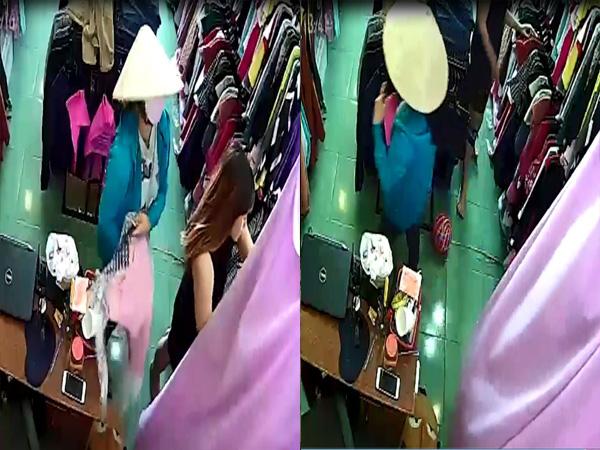 Giả vờ mua quần áo, người phụ nữ trộm điện thoại nhanh như chớp - Ảnh 2