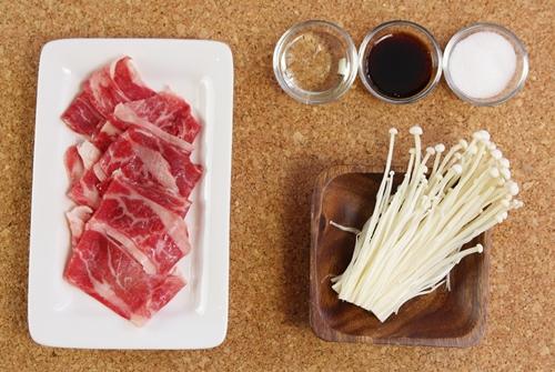 Thịt bò cuộn nấm kim châm ngon mê - Ảnh 1