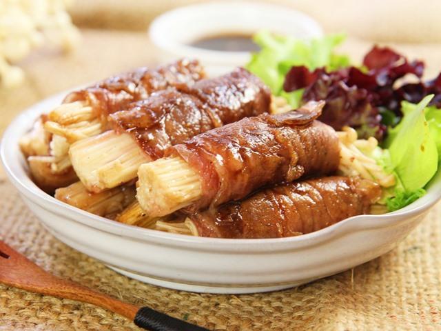 Thịt bò cuộn nấm kim châm ngon mê - Ảnh 3