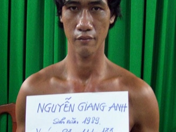 Bị cáo Nguyễn Giang Anh lúc bị bắt