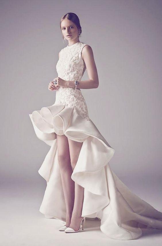 Váy cưới ngắn - xu hướng mới cho mùa cưới năm nay - Ảnh 14