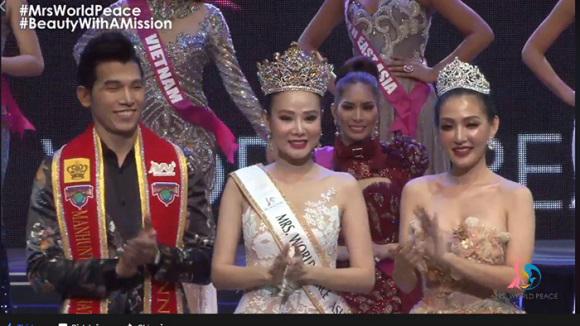 Bị 'ném đá' không biết tiếng Anh, Dương Yến Ngọc vẫn đăng quang Hoa hậu Quý bà Hòa bình châu Á 2017 - Ảnh 1