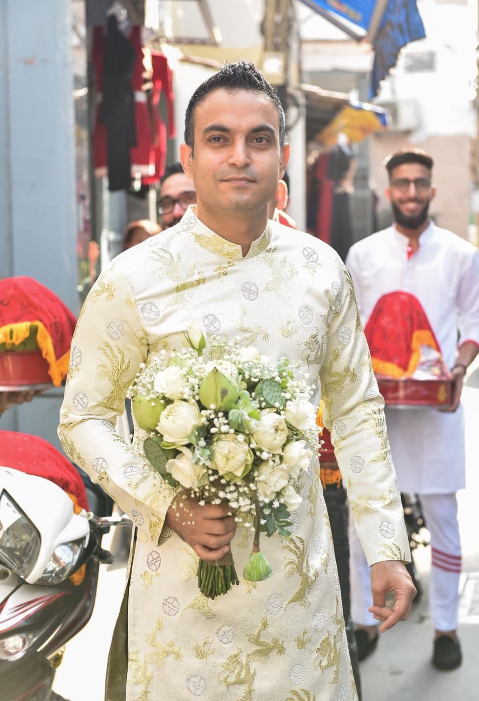 'Lóa mắt' nhìn Võ Hạ Trâm đeo vàng nặng trĩu trong hôn lễ cùng chồng doanh nhân Ấn Độ - Ảnh 9