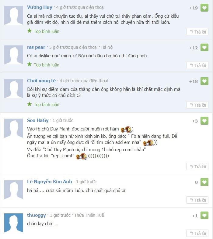 Loạt bình luận 'bá đạo' của Duy Mạnh trên Facebook: Người 'đổ' rầm rầm, kẻ chửi tục tĩu - Ảnh 13