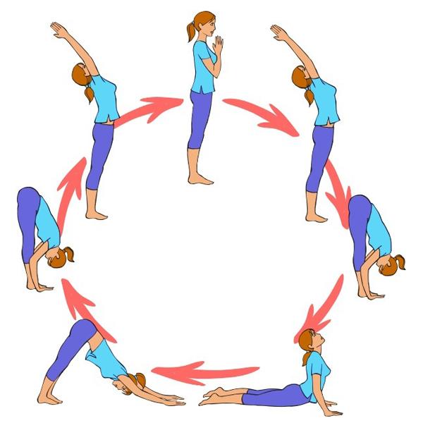 Động tác yoga Chào mặt trời rất có lợi cho làn da và sức khỏe.